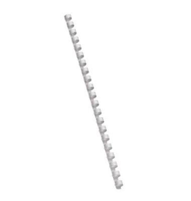 Plastikbinderücken 17100021 weiß US-Teilung 21 Ringe auf A4 70 Blatt 10mm 100 Stück