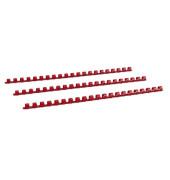 Plastikbinderücken 17100221 rot US-Teilung 21 Ringe auf A4 70 Blatt 10mm 100 Stück