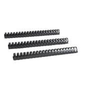 Plastikbinderücken 17280121 schwarz US-Teilung 21 Ringe auf A4 250 Blatt 28mm 25 Stück