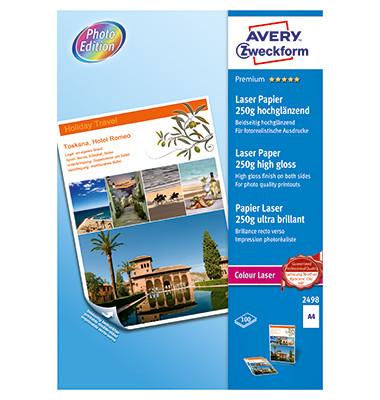 Laser-Fotopapier A4 2498 A4 Premium Colour weiß 250g 100 Blatt