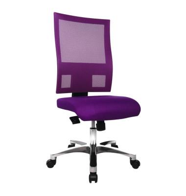 Bürodrehstuhl Nito ohne Armlehnen lila