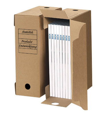 Archivbox universal 10 Stück braun 9,0 l