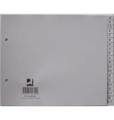 Register A-Z A4 halbe Höhe 0,12mm graue Taben 20-teilig