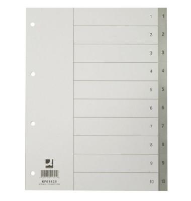 Kunststoffregister KF01825 1-10  A4 0,12mm graue Taben 10-teilig