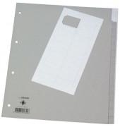 Register blanko A4+ 0,12mm graue Taben 15-teilig Fenstertabe