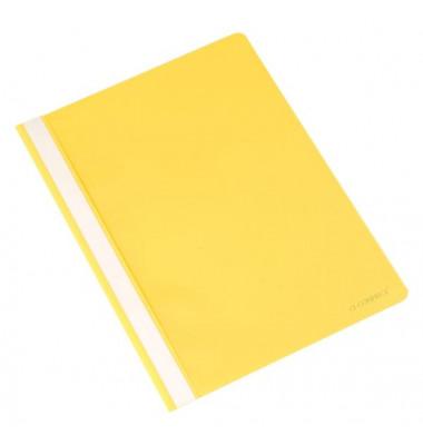 Schnellhefter A4 gelb PP Kunststoff kaufmännische Heftung bis 250 Blatt