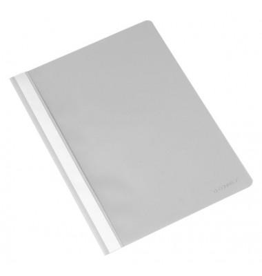 Schnellhefter A4 grau PP Kunststoff kaufmännische Heftung bis 250 Blatt