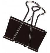 Foldbackklammern KF01284, 32mm, Metall schwarz, 10 Stück