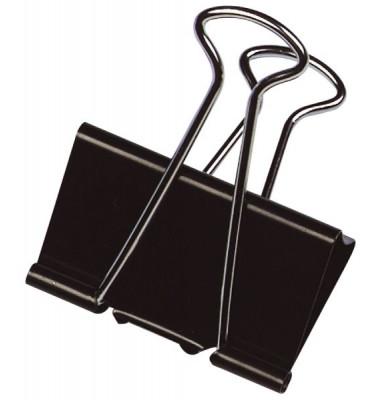 Foldbackklammern KF01286, 51mm, Metall schwarz, 10 Stück