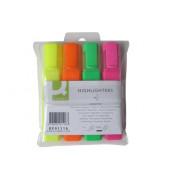 Textmarker 4er Etui farbig sortiert 2-5mm Keilspitze