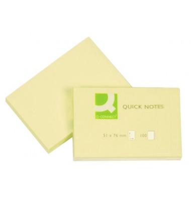 Haftnotizen 51x76mm 100 Blatt gelb