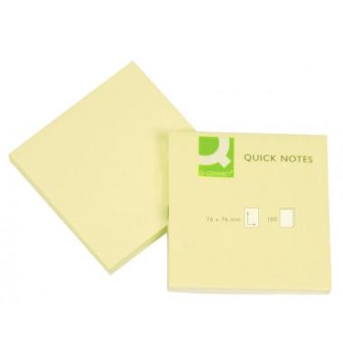 Haftnotizen 75x75mm 100 Blatt gelb