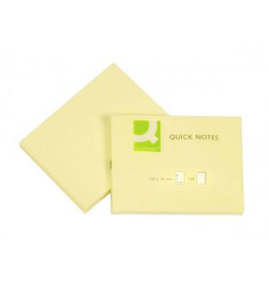 Haftnotizen 76x102mm 100 Blatt gelb