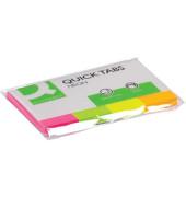 Index Haftstreifen 20x50mm 4x 40 Blatt neon