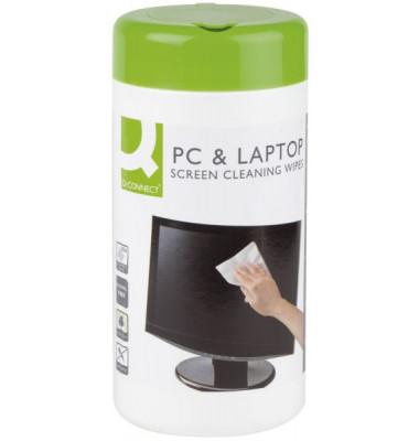 Bildschirm-Reinigungstücher antibakteriell für Bildschirme Spenderdose 100 Tücher