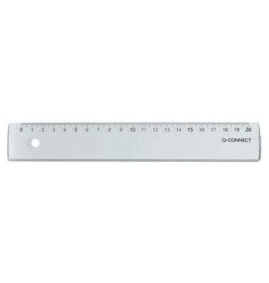 Lineal 20cm Kunststoff transp. im Etui