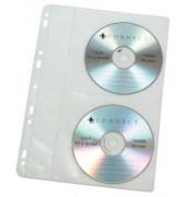 CD-Hüllen PP für 4CDs/DVDs gelocht 10St