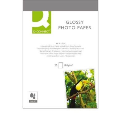Inkjet-Fotopapier 10x15cm Glossy hochglänzend 180g 25 Blatt