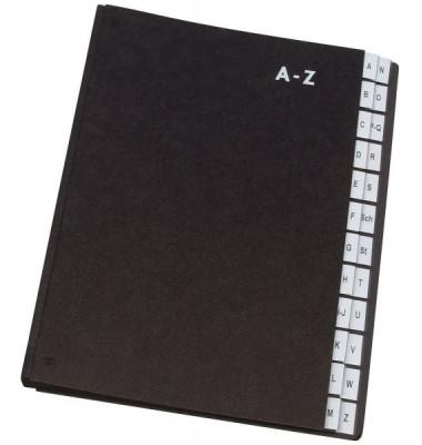 Pultordner KF0456 A4 A-Z schwarz 24-teilig