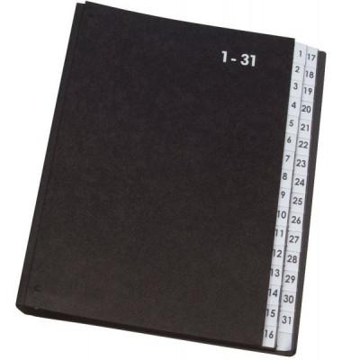 Pultordner KF0456 A4 1-31 schwarz 32-teilig