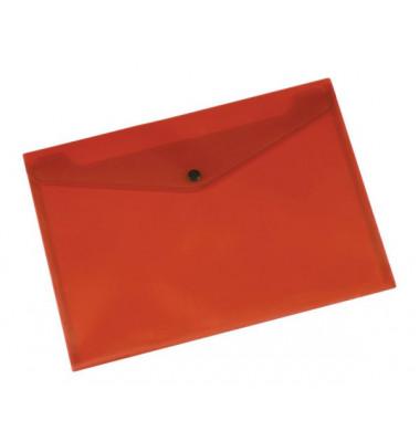 Dokumententasche A4 rot/transparent bis 50 Blatt