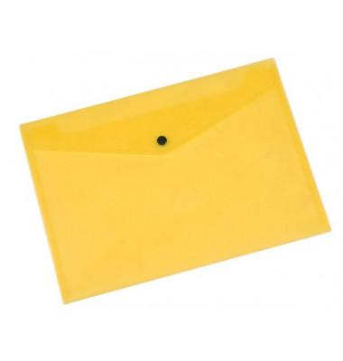 Dokumententasche A4 gelb/transparent bis 50 Blatt