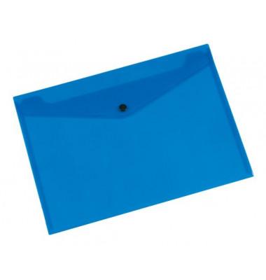 Dokumententasche A4 blau/transparent bis 50 Blatt
