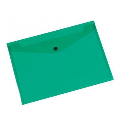 Dokumententasche A4 grün/transparent bis 50 Blatt