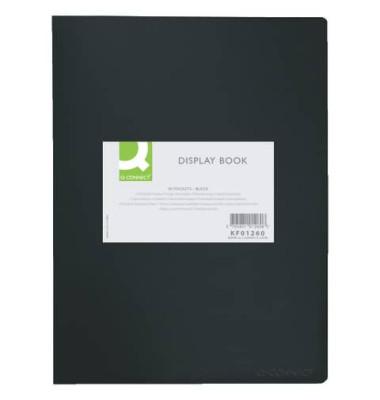 Sichtbuch KF01260 schwarz A4 PP mit 40 Hüllen