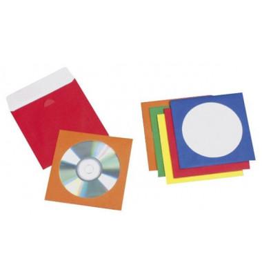 CD/DVD-Hüllen Papier farb.sort.50St selbstklebend