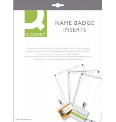 Etiketten für Namensschild 60x30mm