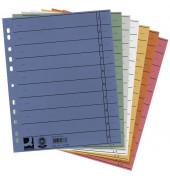 Trennblätter A4 farbig sortiert 230g 5x 20 Blatt Recycling