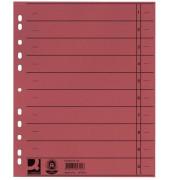 Trennblätter A4 rot 230g 100 Blatt Recycling