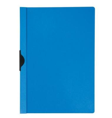 Klemmhefter KF00462, A4, für ca. 30 Blatt, Kunststoff, blau