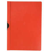 Klemmhefter KF00461, A4, für ca. 30 Blatt, Kunststoff, rot