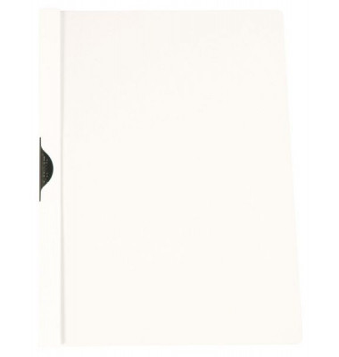 Klemmhefter PP A4 m.Metallclip weiß für 30 Blatt