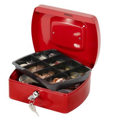 Geldkassette KF04249 Größe 2 rot 205x160x85mm