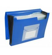 Fächermappe KF01275 A4 mit 13 Fächern 13-teilig blanko Kunststoff blau