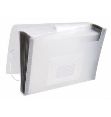 Fächermappe KF02481 A4 mit 13 Fächern 13-teilig blanko Kunststoff transparent/transparent