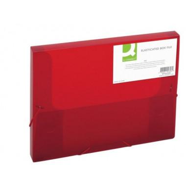 Sammelmappe KF02306, A4 Kunststoff, für ca. 250 Blatt, rot transparent