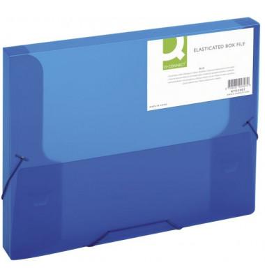 Sammelmappe KF02307, A4 Kunststoff, für ca. 250 Blatt, blau transparent