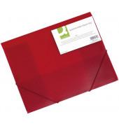 Eckspannmappe A4 PP rot transparent