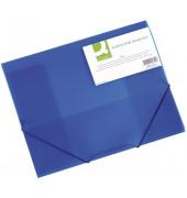 Eckspannmappe A4 PP blau transparent