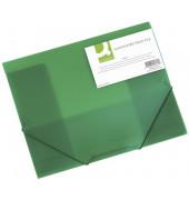 Eckspannmappe A4 PP grün transparent
