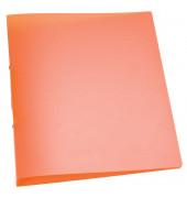 Ringbuch A4 orange-transparent 2-Ring Ø 25mm