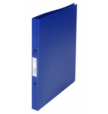 Ringbuch A4 blau gedeckt 2-Ring Ø 16mm