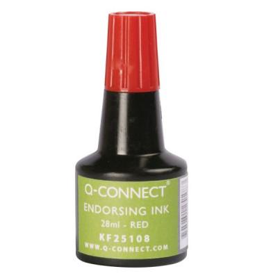 Stempelfarbe KF25108 ohne Öl 28ml Flasche rot