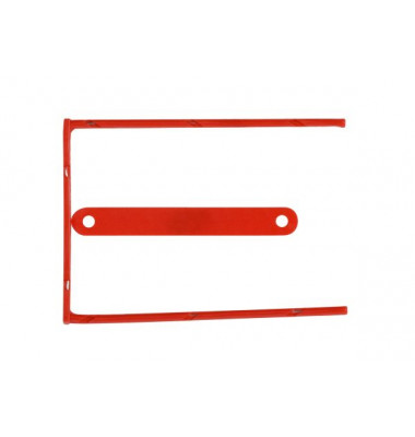 Aktenbinder D-Clip rot 80mm Lochung 100 Stück