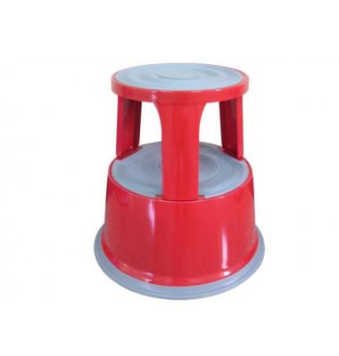 Rollhocker rot Metall 43cm hoch