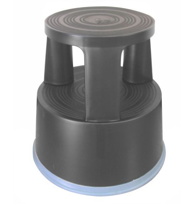 Rollhocker grau Kunststoff 43cm hoch